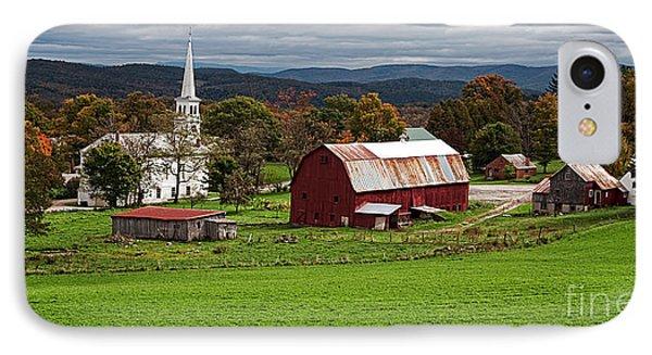 Idyllic Vermont Small Town IPhone Case