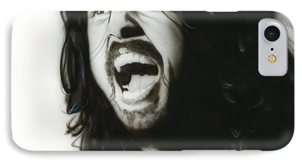 Dave Grohl - ' If Everything Could Ever Feel This Real Forever ' IPhone Case by Christian Chapman Art