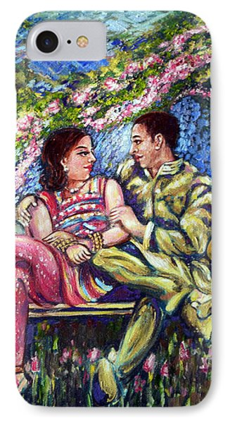 IPhone Case featuring the painting If I Will Get Your Love by Harsh Malik