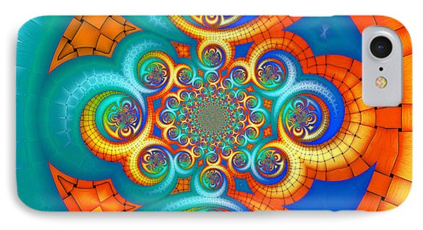 If Orange Is The New Blue . . . IPhone Case by Wendy J St Christopher