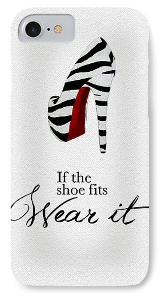 If The Shoe Fits Zebra IPhone Case by Rebecca Jenkins