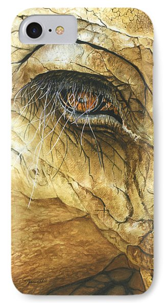 IPhone Case featuring the painting If You Could See What I've Seen... by Barbara Jewell