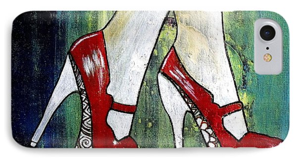 IPhone Case featuring the painting If You Walked In My Shoes by Julie  Hoyle