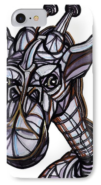 iGiraffe Phone Case by Del Gaizo