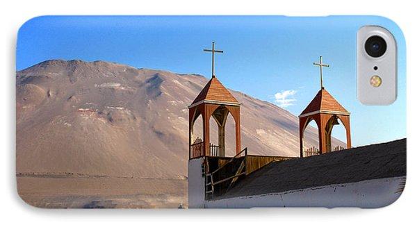 Iglesia De San Geronimo Poconchile Chile Phone Case by Kurt Van Wagner