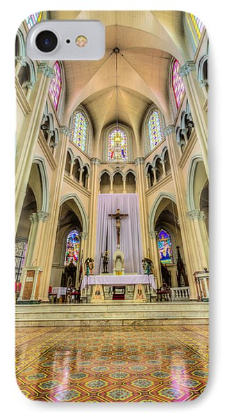 Iglesia De San Isidro De Coronado In Costa Rica Vertical IPhone Case by Andres Leon