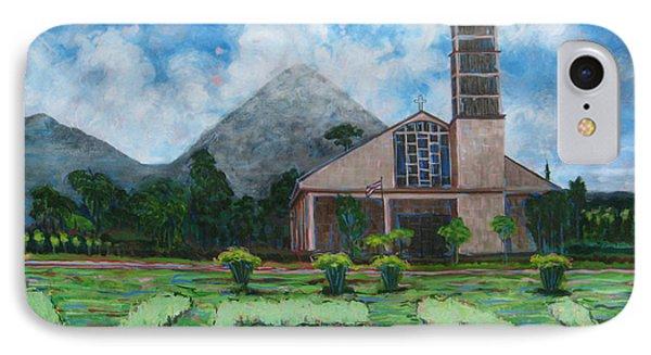 Iglesia La Fortuna  Costa Rica IPhone Case