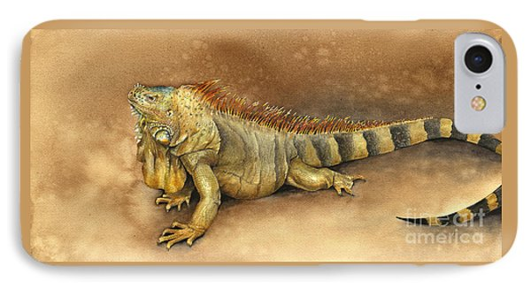 Iguana IPhone Case by Nan Wright