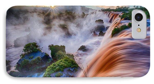 Iguazu Sunrise Phone Case by Inge Johnsson