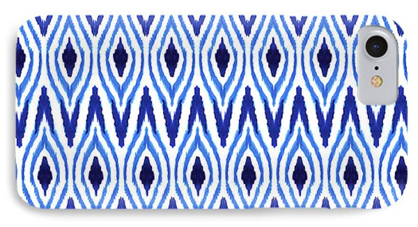Ikat Blue IPhone Case by Amy Sia