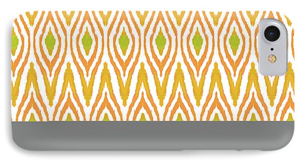 Ikat Tangerine IPhone Case by Amy Sia