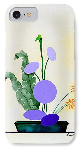 Ikebana #2 Green Pot IPhone Case by Thomas Gronowski