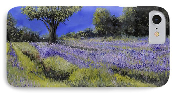 Il Campo Di Lavanda IPhone Case by Guido Borelli