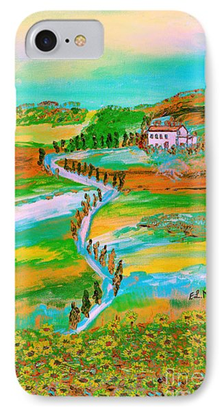 IPhone Case featuring the painting  Tuscan Countryside by Loredana Messina