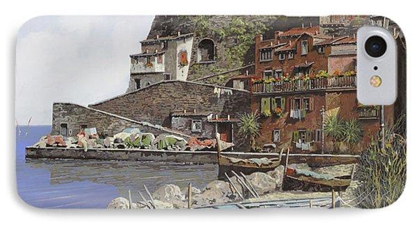 il porto di Sorrento Phone Case by Guido Borelli