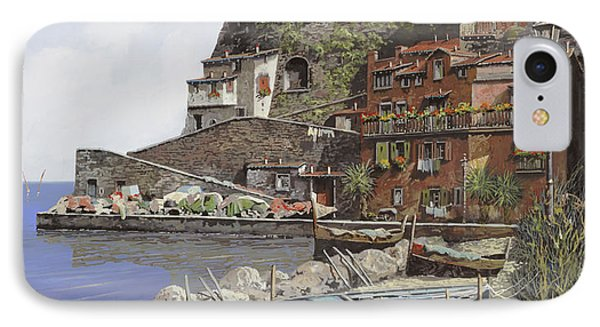 il porto di Sorrento IPhone Case by Guido Borelli