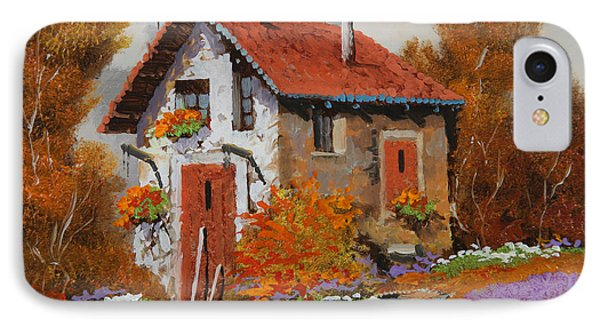 Il Prato Viola Phone Case by Guido Borelli
