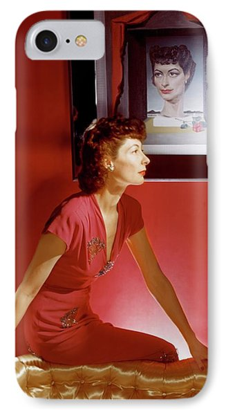 Ilka Chase In A Dress From Bergdorf Goodman IPhone Case by Horst P. Horst