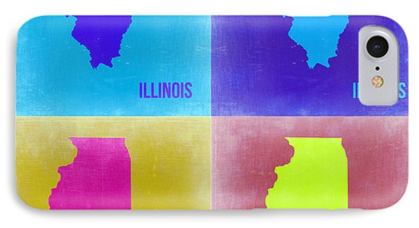 Illinois Pop Art Map 2 Phone Case by Naxart Studio