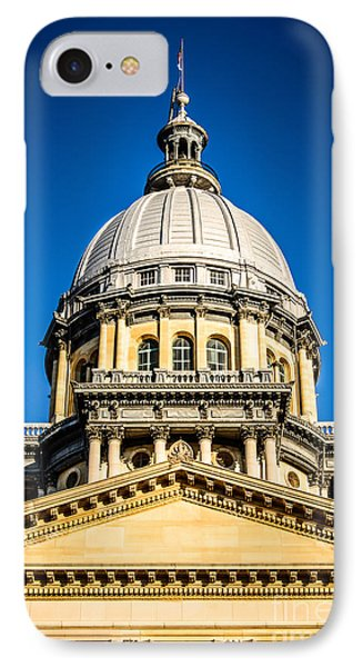 Illinois State Capitol Dome In Springfield Illinois Phone Case by Paul Velgos
