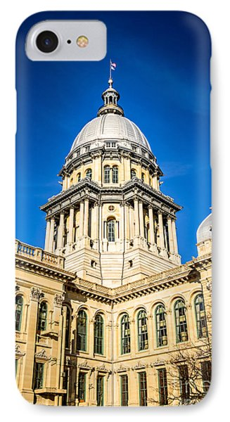 Illinois State Capitol In Springfield Illinois Phone Case by Paul Velgos