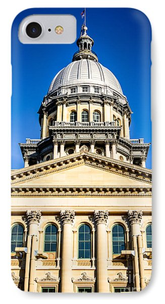 Illinois State Capitol In Springfield Phone Case by Paul Velgos