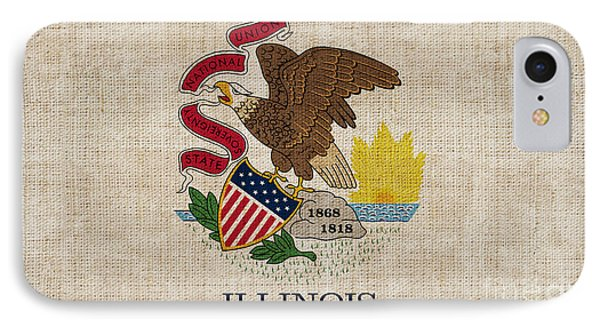 Illinois State Flag Phone Case by Pixel Chimp
