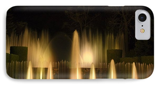 Illuminated Dancing Fountains IPhone Case by Sally Weigand