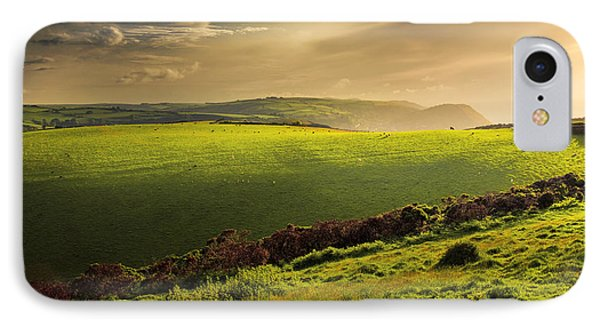 Illuminated Evening Landscape North Devon Phone Case by Dorit Fuhg