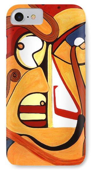 IPhone Case featuring the painting Illuminatus 2 by Stephen Lucas