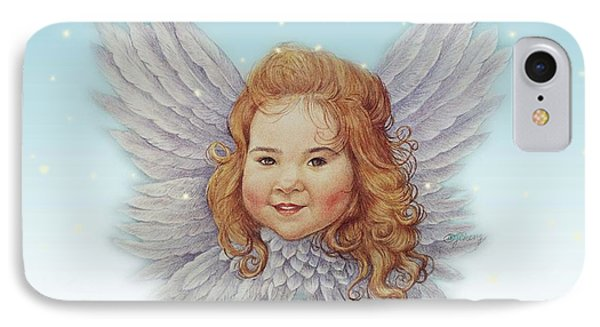 Illustrated Twinkling Angel IPhone Case by Judith Cheng