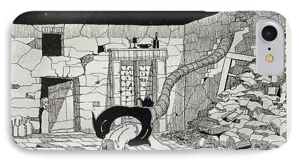 Illustration For 'the War Of The Worlds' IPhone Case by British Library