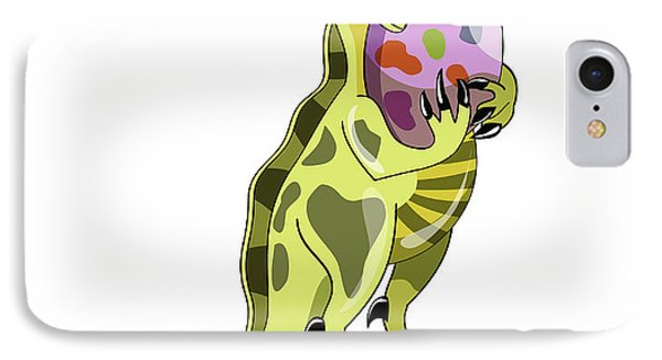 Illustration Of A Lambeosaurus Holding IPhone Case by Stocktrek Images