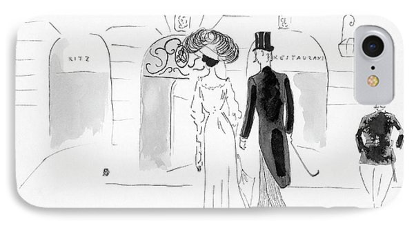 Illustration Of A Nineteenth Century Couple IPhone Case by  Oberle