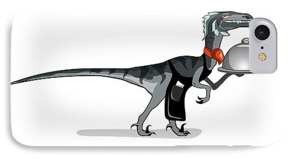 Illustration Of A Raptor Food Waiter IPhone Case