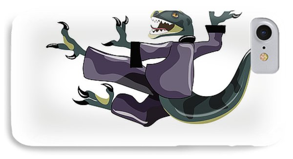 Illustration Of A Raptor Performing Phone Case by Stocktrek Images
