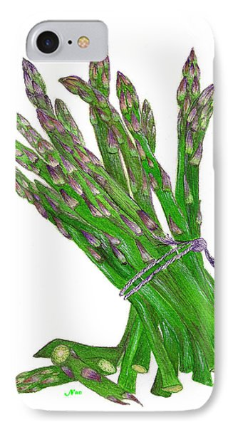 Illustration Of Asparagus IPhone Case by Nan Wright