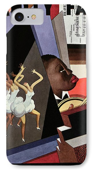 Illustration Of Harlem Entertainers IPhone Case by William Bolin