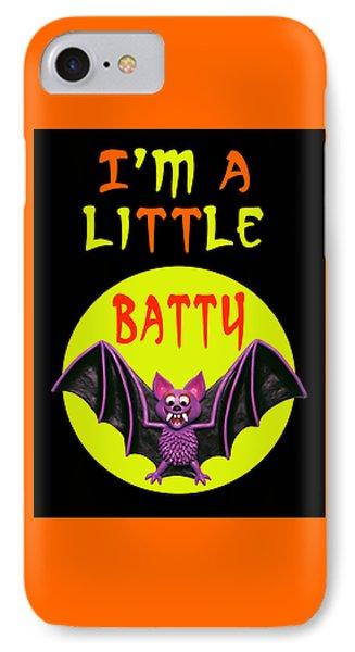 I'm A Little Batty Phone Case by Amy Vangsgard