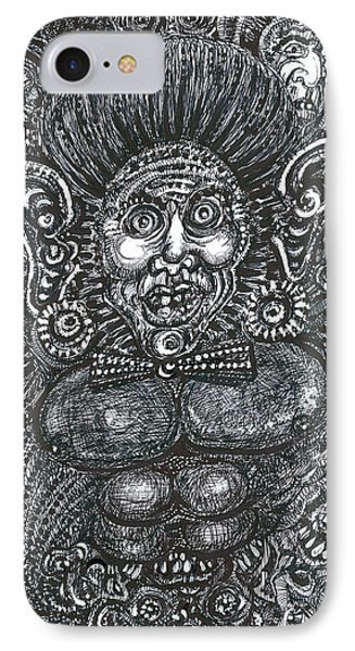 IPhone Case featuring the mixed media I'm All Ears by Giovanni Caputo