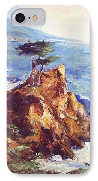 IPhone Case featuring the painting Imaginary Cypress by Eric  Schiabor