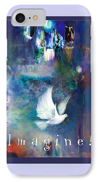 IPhone Case featuring the painting Imagine 4 Kids by Brooks Garten Hauschild