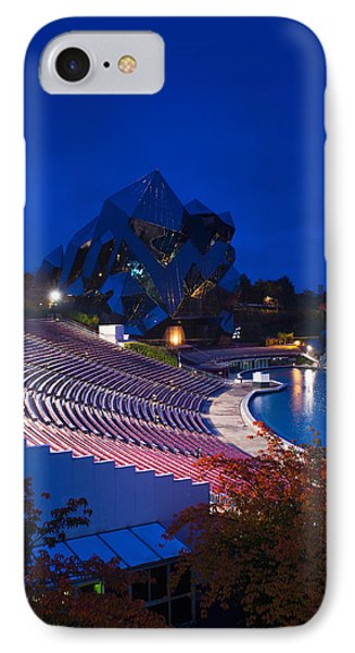 Imax Theater, Futuroscope Science Park IPhone Case by Panoramic Images