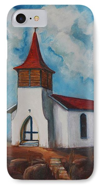 Immaculate Conception Catholic Church Of Cimarron New Mexico IPhone Case by Judy Lybrand