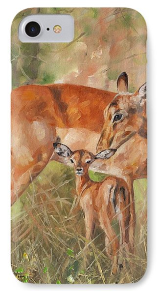 Impala Antelop IPhone 7 Case by David Stribbling