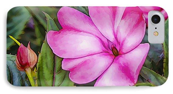 Impatiens Pink IPhone Case
