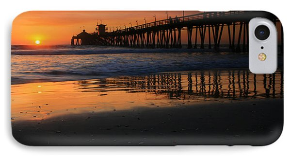 Imperial Beach Pier Sunset IPhone Case by Scott Cunningham