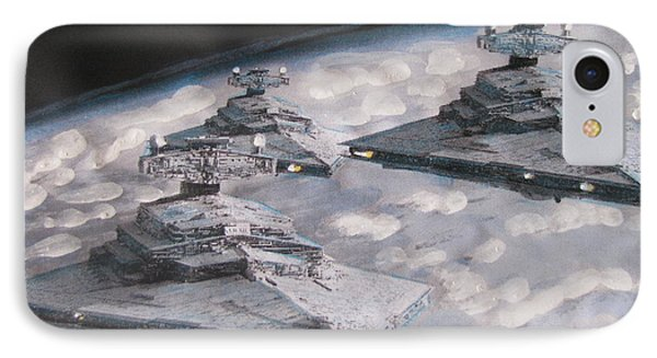 IPhone Case featuring the painting Imperial Star Ship Destroyers by Vikram Singh