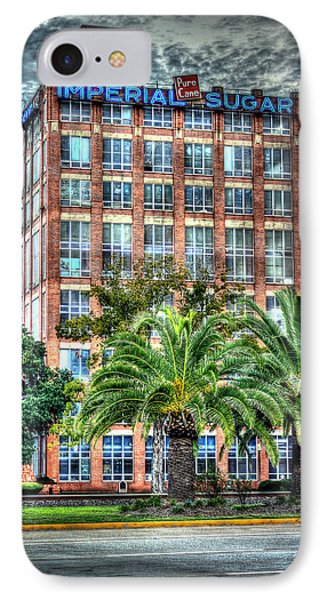 Imperial Sugar Factory Daytime Hdr IPhone Case by David Morefield