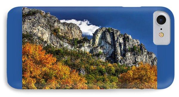 Imposing Seneca Rocks - Seneca Rocks National Recreation Area Wv Autumn Mid-afternoon Phone Case by Michael Mazaika